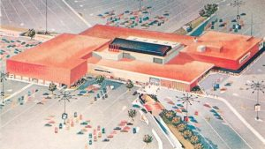 The original enclosed shopping mall, Southdale, in Minneapolis, was designed by Austrian architect, Victor Gruen