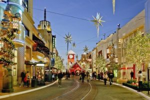 The Grove is one of the busiest and most successful shopping malls in the U.S.
